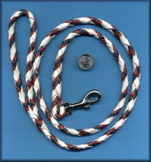 Click For Close-Up on White Red/Blue Snap Lead